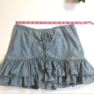 16d4489d4 LONDONJEAN Skirts - 1990's LondonJean Layered Ruffles Denim Skirt
